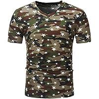 Herren Shirt, Camouflage Print Crewneck Slim Fit T Short Sleeve Tee Print T-Shirt Atmungsaktiv Sportswear Tanktop Kurzarmshirt Unterhemd Achselshirt Sweatshirt Hoodie