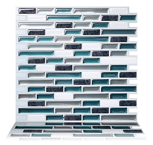 Tic Tac Tiles Anti Mold schälen und stecken Wand-Fliese Aufkantung In 5 10