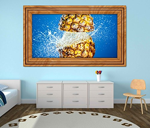 geteilt Wasser Splash blau Küche selbstklebend Wandbild Tattoo Wohnzimmer Wand Aufkleber 11M751, Wandbild Größe F:ca. 162cmx97cm ()