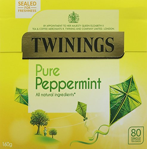 Twinings Pure Peppermint 80 Tea Bags (Pack of 4, total 320 Tea Bags)