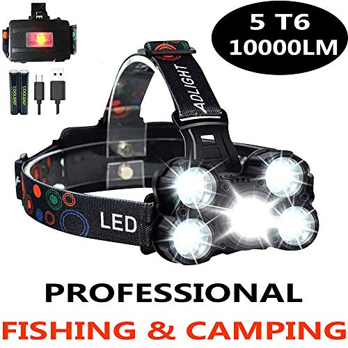 51O9Kts%2BrLL - 10000LM Waterproof Head Torch with 4 Modes for Fishing, Hiking & Camping