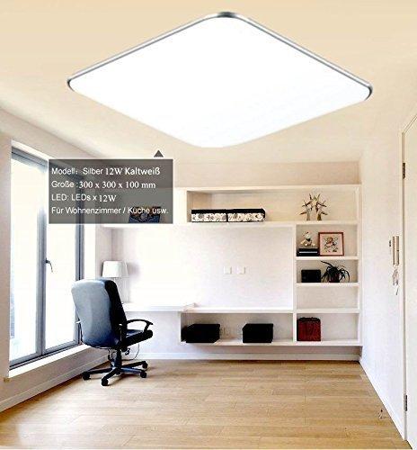 Sailun 12w kaltwei ultraslim led deckenleuchte modern for Deckenlampe wohnzimmer modern