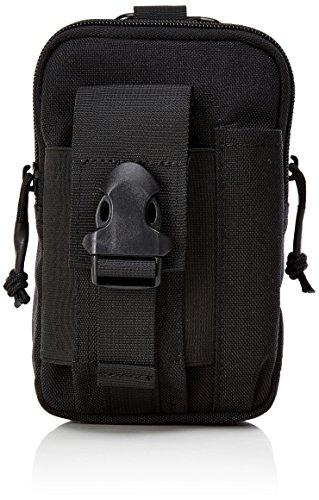 OneTigris kompakt MOLLE EDC Tasche Tac Pouch praktische Gerät Beutel (Schwarz-A)