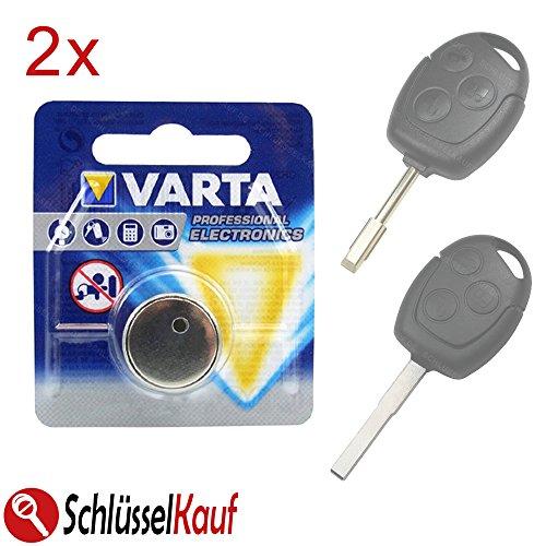 2x VARTA Schlüssel Batterie für Ford Fiesta Focus Mondeo Transit Autoschlüssel (Schlüssel Fernbedienung Ford)