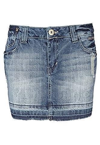 Fresh Made Damen Jeansrock mini | Jeans Minirock aus hochwertigem