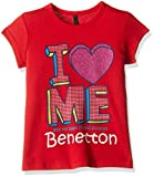 United Colors of Benetton Baby Girls' T-Shirt (16A3094C12AEIK110Y_Red_0Y)