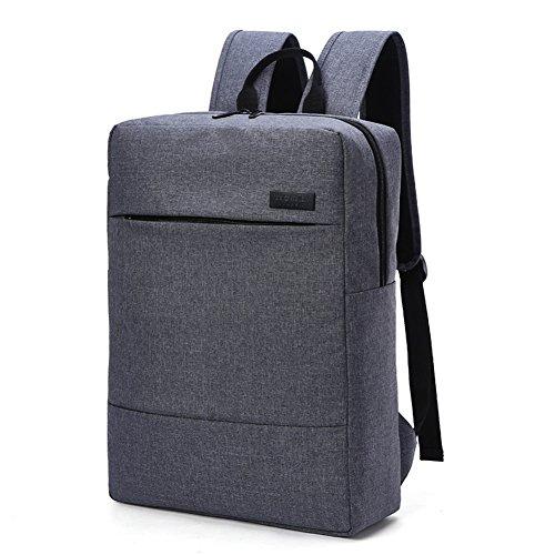 lim Laptop Rucksack Schulter Tasche Männer und Frauen Schulranzen Business Freizeit Reisen Computer-Rucksack für Laptops, Mac & Chrome Bücher Wasserdichte Tasche 17 Zoll (Grau) ()