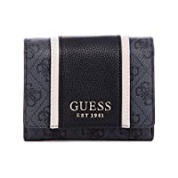 Guess Trifold Wallet For Women, Black - SG773743