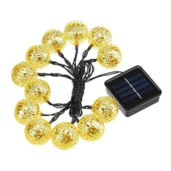VicTsing Impermeabile Stringa di Luci ad Energia Solare 12 Luci LED (Luce Calda)