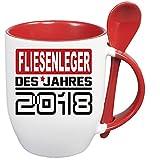 Löffelbecher Rot Berufetasse 2018