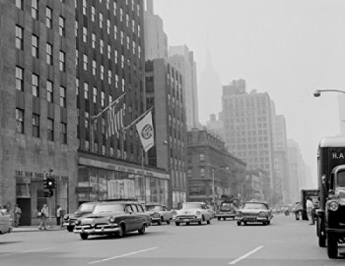 USA New York City Manhattan Avenue of The Americas Looking South from 49th Street Poster Drucken (60,96 x 91,44 cm)