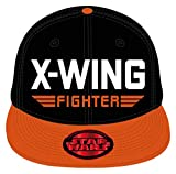 Star Wars Snapback Baseball Cap | VII X-Wing Fighter | Black/Orange