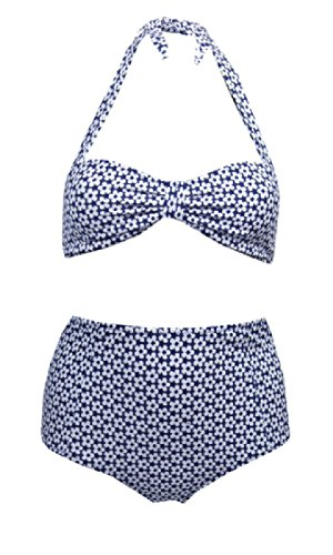 ladies-womens-ex-urban-outfitters-high-waisted-vintage-retro-bikini-ret-32-medium-10-12-blue-ditsy-d
