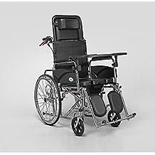 De peso ligero plegable silla de ruedas, personas mayores discapacitados lleno de multi-funcional