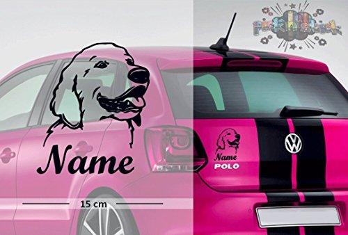 Golden Retriever #1   Tier   Wunschtext   Auto Aufkleber   Hund