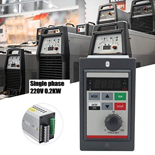 220V 0.2KW Mini VFD Frequenzumrichter,PAM-Regelung Einphasig Mikro Frequenzumrichter Mini VFD Inverter Vektorregelung VFD Drehzahlregler -
