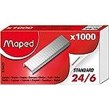 Maped agrafes 24/6, zinguées, boîte de 1000 agrafes - 324405