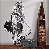 Wmbz Surfen Chewbacca WandtattooKunst Dekor Fathead WandbildKinderzimmer Designs Chewbacca Art Vinyl Aufkleber57X93 Cm
