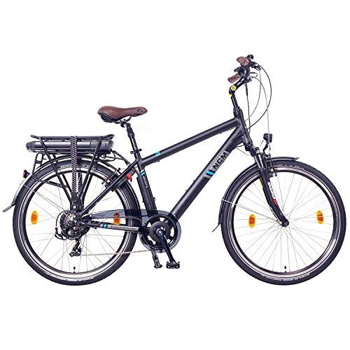 NCM Hamburg 26 Zoll Elektrofahrrad Herren/Damen Unisex Pedelec,E-Bike,City Rad, 36V 250W 14Ah Lithium-Ionen-Akku mit PANASONIC Zellen, matt schwarz -