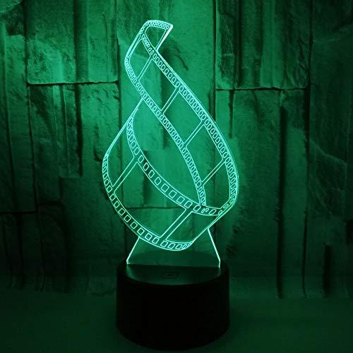 Die Lampe 3D Optische Täuschungfilm Film Dekoratives Licht Des Schlafzimmers 7 Farben Justierbares Babynachtlicht USB-Schnittstelle Fernsteuerungskind Geschenk