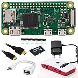Raspberry Pi Zero W Complete Kit/Kit complet: pi Zero W + MicroSD 16Go + 1m Convertisseur Mini HDMI Kit de barre > Câble HDMI + adaptateur micro USB OTG + 1A Bloc d'alimentation + Stylet + Boîtier
