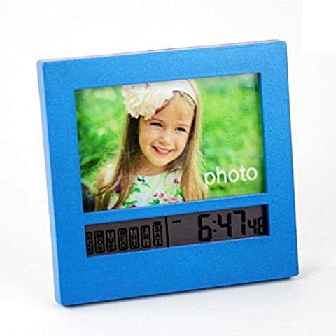 Creative photo frame digital alarm clock/ letto caldoLCD orologio/ orologio