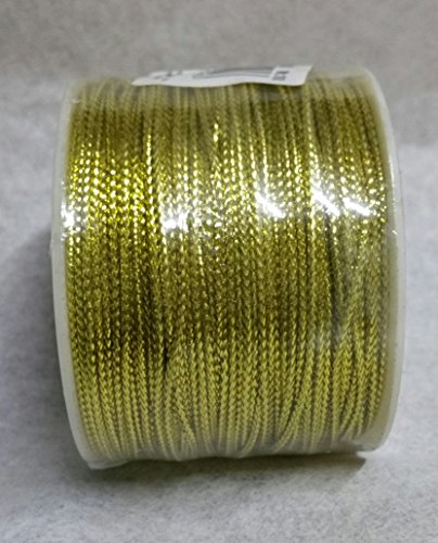 Wackelschwanz Kordel Lurex Durchmesser 1,0mm Länge 100Meter (Gold) (Kordel Gold)