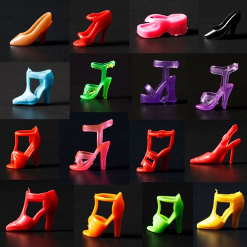 ie-Schuhe Pumps Stiefel Sandale Boot für Barbie Dolls Puppen ()