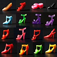 20 Pairs High Heel Flattie Shoes Boot For Barbie Doll