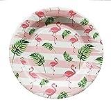 KBWL Einweg Flamingo Tablett Hochzeitsfeier Besteck Teller Sommer Hawaiian Party Supplies Geburtstagsfeier Dekoration Pappteller