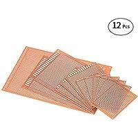 KKmoon 12pcs Carte Kit Universel électronique Planche à Pain de Panneau de Carte PCB pour le projet électronique