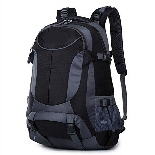 Xiuxiandianju 36-55L outdoor Bergsteigen Tasche Sport Reiten Schulter Rucksack Black