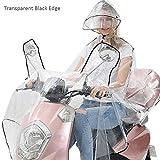 Kbsin212 Klar Motorrad Regenmantel Single Völlig Transparent Doppel Hut-Krempe Reflektierende Erwachsene Elektro Fahrrad Motorrad Regenmantel Voller Schutz Regenbekleidung
