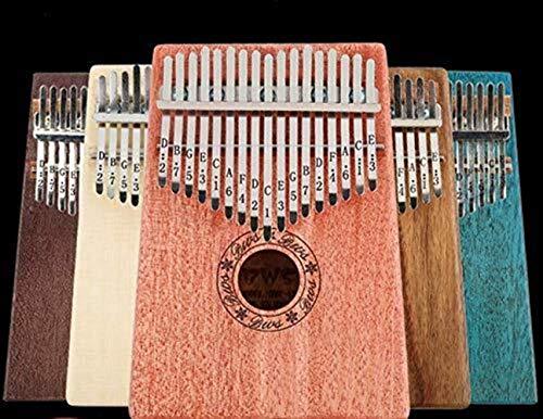 Thumb piano hi-smile 17 key kalimba, corpo in mogano thumb piano professionale finger piano marimba strumento musicale regalo -verde (color : mahogany wood color)