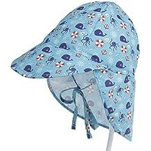Boomly Niños Bebé Algodón Sombrero para El Sol UV50 + Proteccion Verano  Pescar Sombreros Plegable Gorro cb9a69240fd