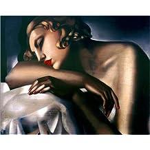 Poster 50 x 40 cm: Das schlafende Mädchen von Tamara de Lempicka / AFIN. - hochwertiger Kunstdruck, neues Kunstposter