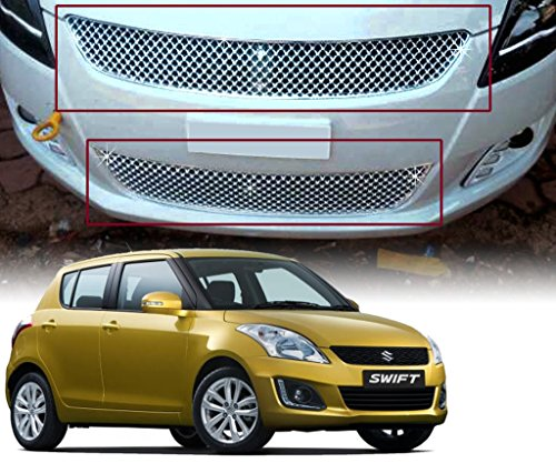 Auto Pearl - Premium Quality Car Chrome Front Grill For - Maruti Suzuki Swift 2015 - Bently  available at amazon for Rs.1799