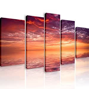 35 rouge 5 quadri moderni 110x60 cm stampa digitale for Quadri moderni salotto