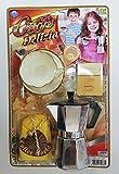 takestop® SET MOKA CAFFETTIERA TAZZA CON PIATTINO CUCCHIAINO CAFFE COFFEE ESPRESSO ZUCCHERO LATTE GIOCO BAMBINI BAMBINE 3 ANNI GIOCATTOLO