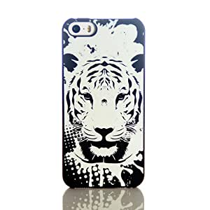 "Luminous Effect Fluorescent Glow in the Dark Back Cover Heavy Duty Case Unique Big Tiger for Iphone 6 4.7"" 4.7inch & Free LCD Film"