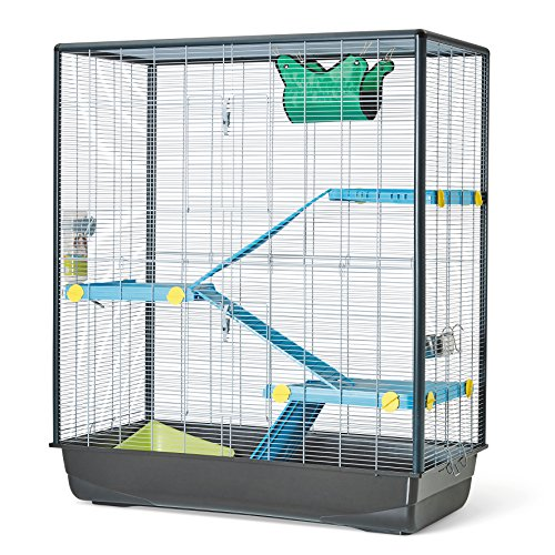 VADIGRAN Savic Zeno 3 Empire Cage Grand pour Rongeur Chrome 100 x 50 x 116 cm