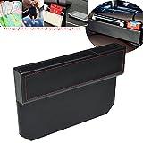 FancyAuto Organizer für Auto Sitz Tasche Schlitz Tasche Aufbewahrungsbox Ablagefach mit PU Leder Kleinteile gutes autozubehör Geeignet für die meisten Autos(black)