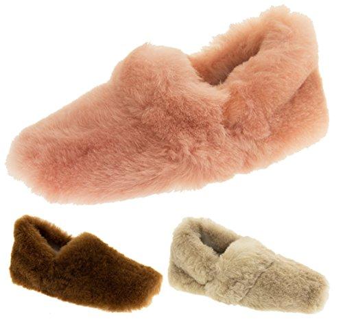 Somerset Footwear Ltd. Bout Fermé Femmes Peau de Mouton Véritable Chaussons de Luxe