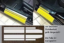 passgenau für Mercedes C-Klasse W204 Limousine und S204 Kombi, Baujahre 2007 - 2014, Lackschutzfolie transparent Einstiegsleisten Einstiege Türen