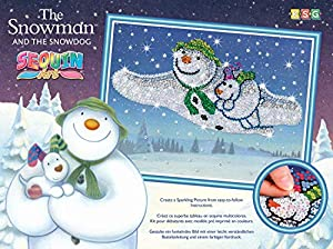 Mammut 8021510 - Kit de Manualidades para niños a Partir de 6 años (Marco de poliestireno, Lentejuelas y Otros Accesorios), diseño de muñeco de Nieve