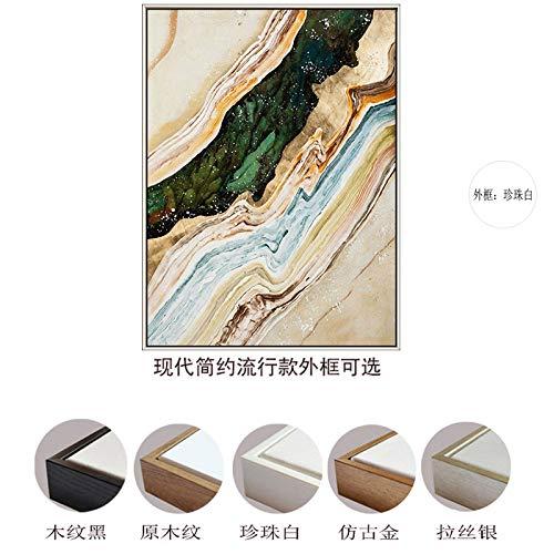 zlhcich Moderne minimalistische goldene abstrakte quadratische dekorative Malerei Wohnzimmer Studie hängende Malerei 3 50 * 70 -