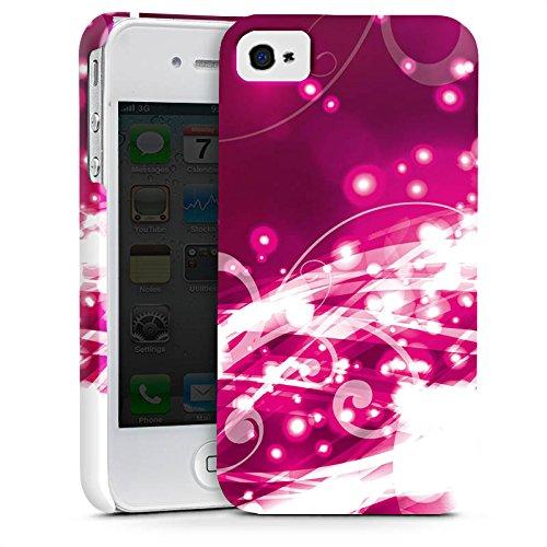 Apple iPhone X Silikon Hülle Case Schutzhülle Abstrakt Glitzer Pink Premium Case glänzend