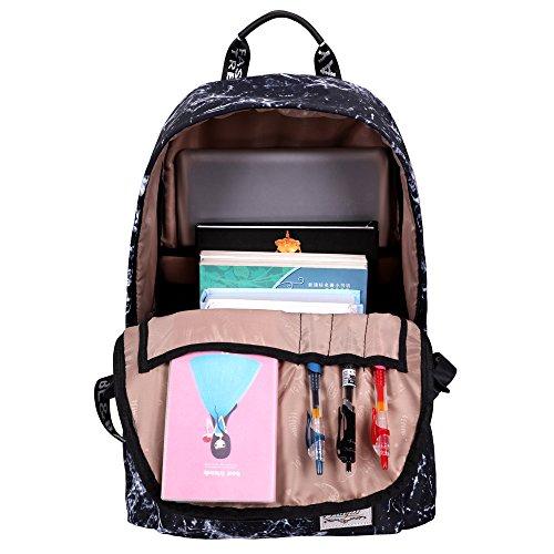 Moka Weir Jiaybl Laptop Bags Spalle Bambini Sacchetti Di Scuola Zaino College Girl Tela Viaggio Viaggi (grigio Chiaro) Acqua Blu