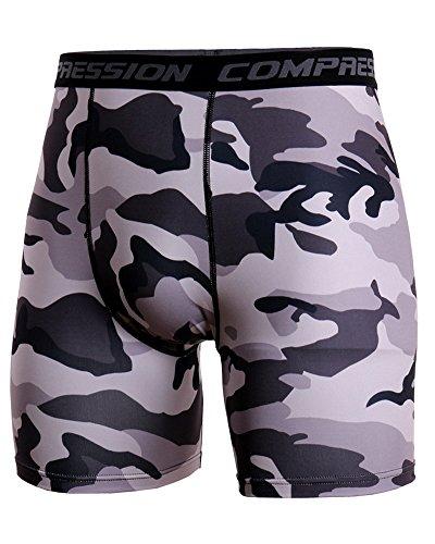 Uomo Fitness Pantaloni Corta Asciugatura Veloce Jogging Compressione Tights Pantaloni Style 2