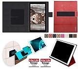 reboon Hülle für Blaupunkt Endeavour 101L Tasche Cover Case Bumper | in Rot Leder | Testsieger